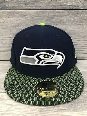 New Era 59Fifty Hat Seattle Seahawks 7 3 8 NFL 2017 On Field Sideline Fitted 7ebd341dccb8