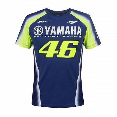 2018 Valentino Rossi VR46 Moto GP YAMAHA Team T Shirt Blue 46 MENS New OFFICIAL