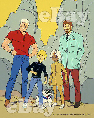 Rare! JONNY QUEST Cartoon Color TV Photo HANNA BARBERA Studios HADJI & BANDIT