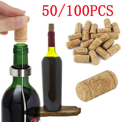 Premium Natural Straight Wine Corks Bottle Stopper Wooden Sealing Plug Caps Bar