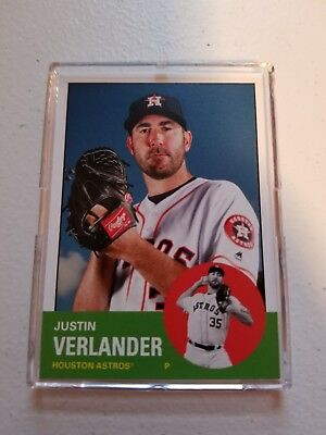 227be048db0 2018 JUSTIN VERLANDER Topps TBT Throwback Thursday Set 37 ASTROS 1963 Design
