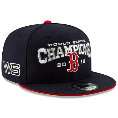 Boston Red Sox New Era 2018 World Series Champions 9FIFTY Snapback Hat Navy