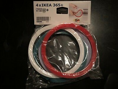IKEA 365+ Replacement Lid Gasket Round Assorted colors Pack of 4