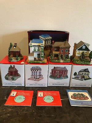 LIBERTY FALLS Village Collection Set of 4 2000