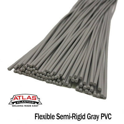 PVC Plastic Welding Repair Rods-20ft, 20pk (12in x 3mm Gray (semi-rigid))