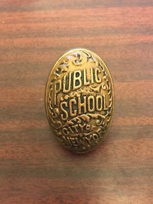 Antique c1900 Brass New York City Public School Door Knob Board of Education