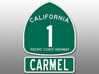 4x5.5 inch PCH Highway 1 Sign and CARMEL Sticker - ca california road coast rv