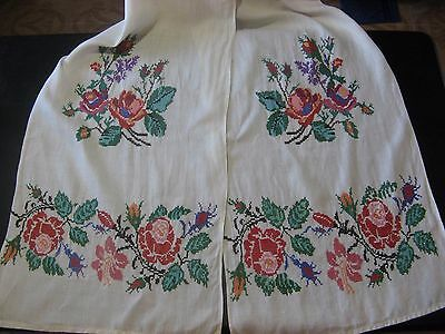 Antique Vtg UKRAINIAN RUSHNYK RUSHNIK UKRAINE Cherkassy Old Hand Embroidery Towe