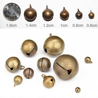 6~20mm Copper Colour Metal Jingle Tinkle Bell Xmas Party Pendant Making DIY
