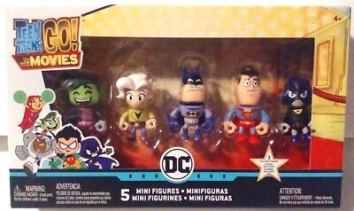 DC Comics Teen Titans Go! To The Movies 5 Mini Figures incl 3 Exclusives MISB