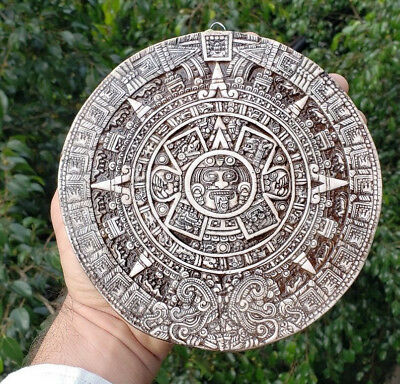 Pre Columbian Mexican Aztec Calendar Tenochtitlan from Resin Mexico Maya Olmec