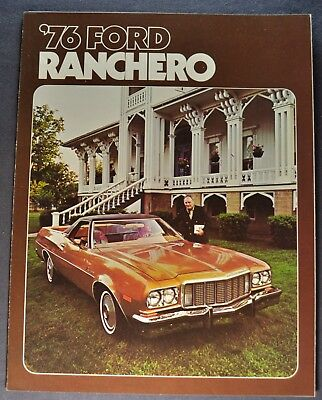 1976 Ford Ranchero Brochure 500 GT Squire Excellent Original 76 Canadian