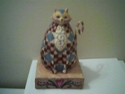 "Jim Shore Patchwork ""Abigail"" Cat 2003 Heartwood Creek"