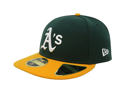 49aa348f854 New Era 59Fifty Hat Mens MLB Low Profile Oakland Athletics Green Yellow  5950 Cap