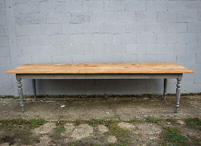 3.2m Long, French Antique Table, Kitchen Island, Vintage
