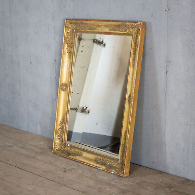 Stunning, French Antique Mirror, Lovely Shape And Size, Vintage
