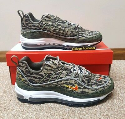 Nike Air Max 98 'AOP Pack' (KhakiTeam Orange Medium Olive