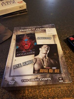 WWE Tagged Classics: Armageddon 03/Royal Rumble 04 (DVD, 2009, 2-Disc Set) New