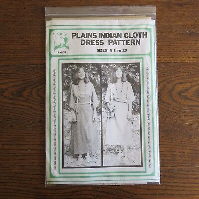 NEW Plains Indian Cloth Dress Sewing Pattern Eagle's View Size 8-20 #PM/76