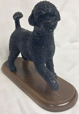 Portugues Water Dog w/Wooded Base - Lot Misc 2