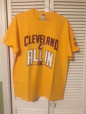 2445ec7f7 NEW Men s Cleveland Cavaliers All In 216 CAVS T-Shirt Size XL Gold Yellow