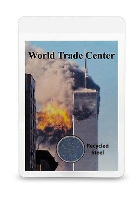 WTC World Trade Center 9/11  Memorial Card WITH RECOVERED STEEL from Ground Zero