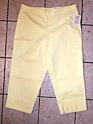 a598b510d5b NWT Womens Liz Claiborne Michaela Have to Have yellow capri cuffed pants Size  16