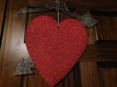 Valentine's Day Heart Melted Plastic Popcorn Window / Wall Decoration