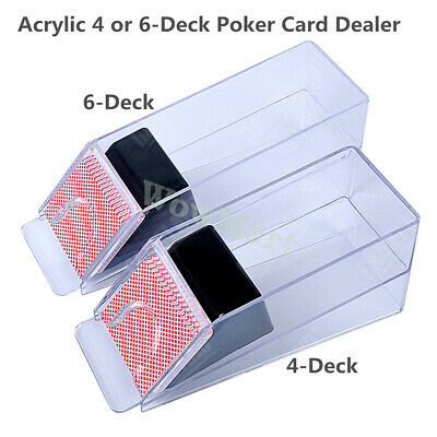 Casino Gambling Texas Blackjack Acrylic 6 Deck Poker Card Dealer Shoe Boot