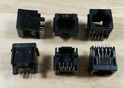 10pcs+ lot Tyco 5520259-4 Vertical 8p8c RJ45 connector with PCB mounting