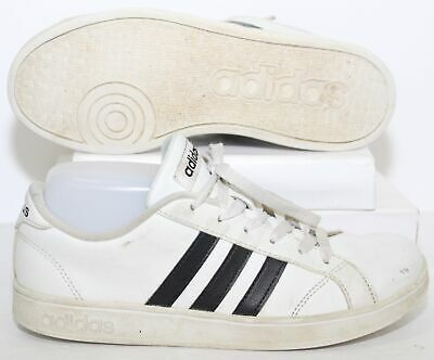Adidas Neo Baseline K Casual Shoes AW4299 White 3 Stripe Sneakers Youth Sz 4.5 Y