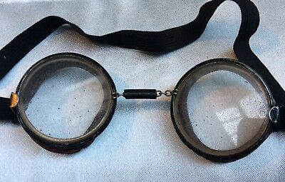 Vintage 1940s Willson Safety/Motorcycle Goggles Steampunk