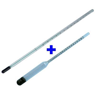 Easy Read Hydrometer & Thermometer Set Homebrew Beer, Cider & Wine Dual Temp