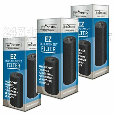 3x Still Spirits EZ Filter Carbon Cartridge replacement