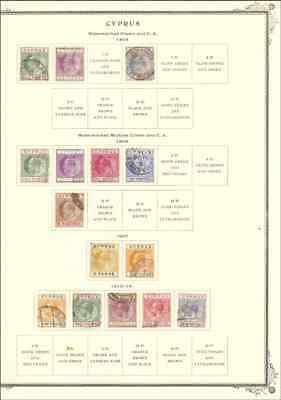 Cyprus Vintage Used Collection On 5 Scott Pages (Cv $280)