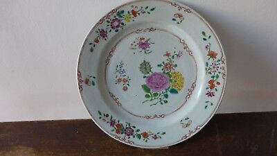Antique chinese export porcelain plate. XVIIIth C Ancienne assiette Chine. 26 cm