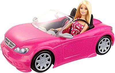 Barbie Pink Convertible and Doll Pack Exclusive Dolls Girls Matte Vehicle Toy