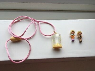 Vintage Polly Pocket Polly In Her Necklace 1990 Complete 2 X Original Figures