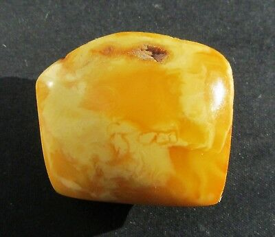 Beautiful Natural Genuine Butterscotch Egg Yolk Baltic Amber Brooch 8.9g.