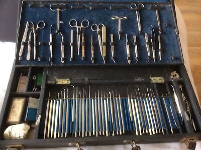 Large Set Of Ophthalmic Surgical Instruments By Weiss London