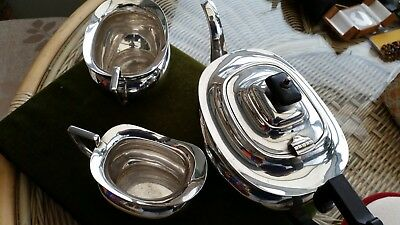 Silver Plated 3 Piece Tea Set 1850's