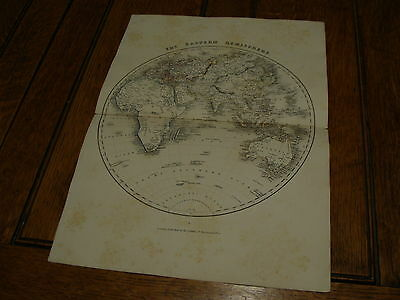 1850's appletons modern atlas engraved by J. Archer-----THE EASTERN HEMISPHERE