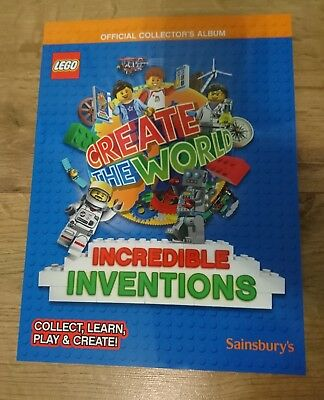 Lego card book sainsburys 2018 incredible inventions New Album