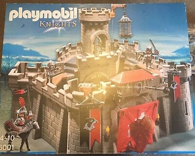 PlayMobil 6001 Hawk Knights Castle including 6371 wall ext and 6324, 6382, 6381
