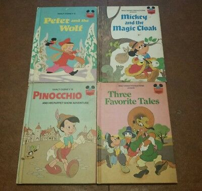 disney wonderful world reading vintage lot of 4 books 1970