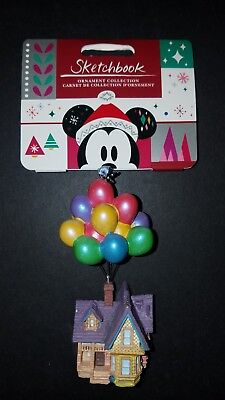 New Disney Pixar Up Carls House Sketchbook Ornament Collection Christmas Holiday
