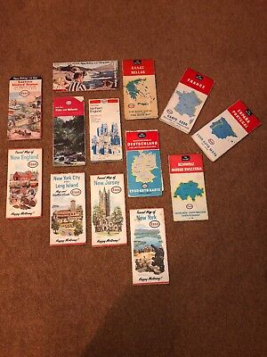 Collection Of Vintage Esso Maps (X13)