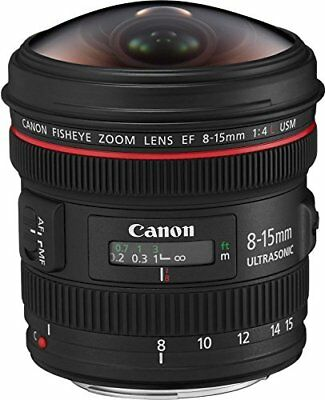 Canon ultra wide angle zoom lens EF 8 - 15 mm F 4 L fish eye USM full size