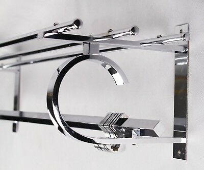 80 cm - Original ART DECO Garderobe - Wandgarderobe - BAUHAUS - Coat Rack