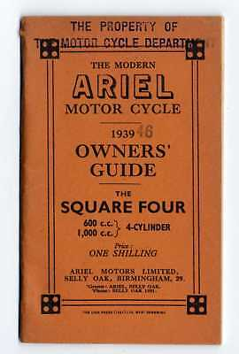 Ariel Square Four 600-1000 1939-46 manuale uso moto originale